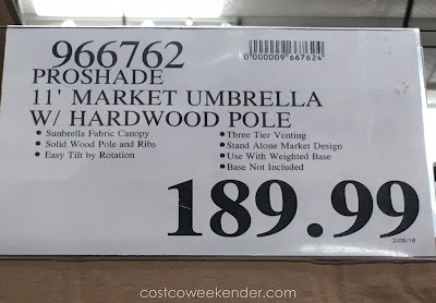 Deal for the ProShade 11 foot Market Umbrella with Tilt at Costco