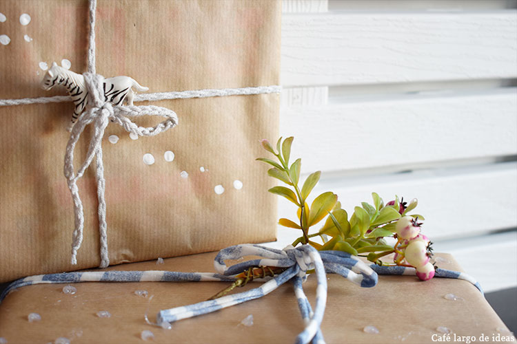 packaging handmade con papel craft