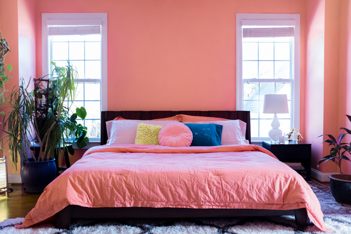A Bedroom Update with Pantone's Color of the Year 2019- design addict mom