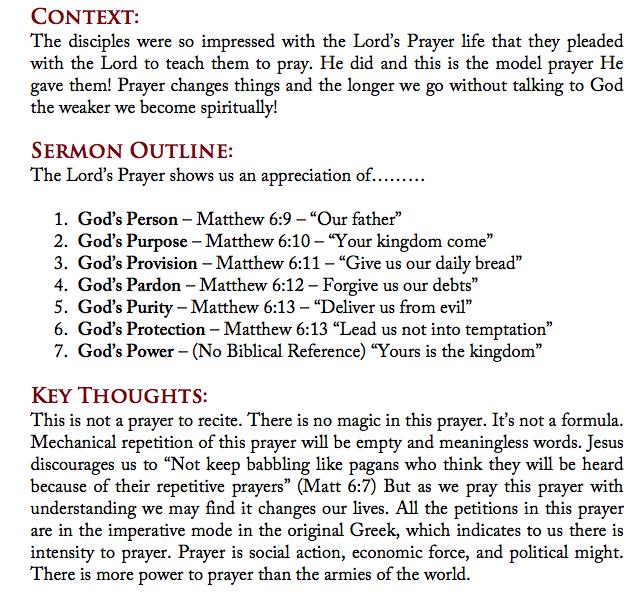 Finding Faith In A Good Friday World: Start    To Pray - Matthew 6:19-13