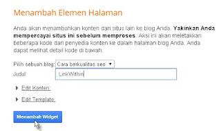 cara membuat widget artikel terkait di blog