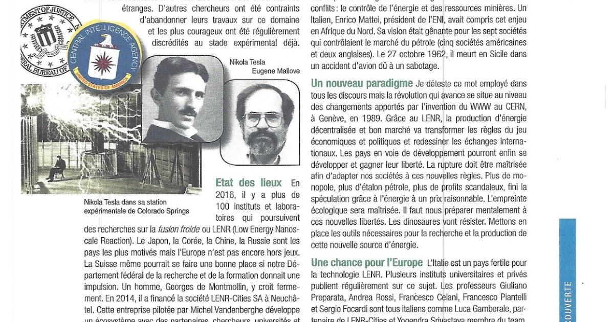 Fran ois de siebenthal r volution nergie lenr la - Salon des inventions ...