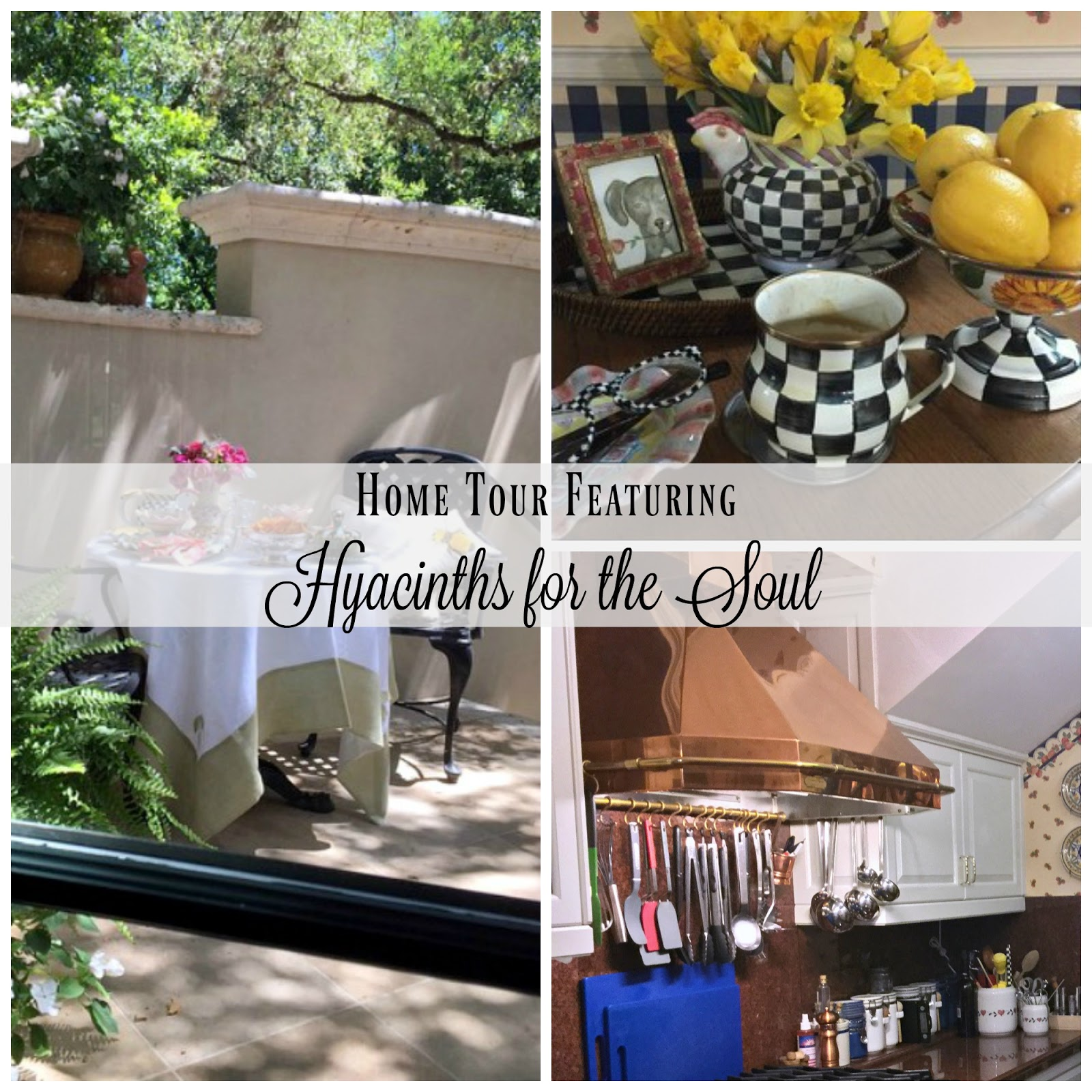 Austin TX home and garden tour. Features cottage style touches including French and English antiques. Lush gardens with places to sit and enjoy the shade.