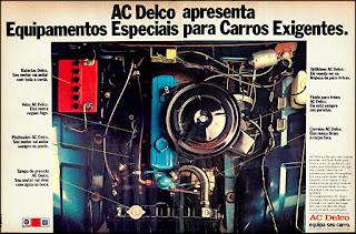 propaganda  equipamentos para carros AC Delco - 1977, AC Delco anos 70, equipamentos para carros década de 70, peças automoveis anos 70, Oswaldo Hernandez,