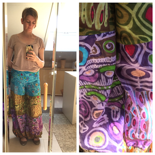 Multi coloured hareem pants