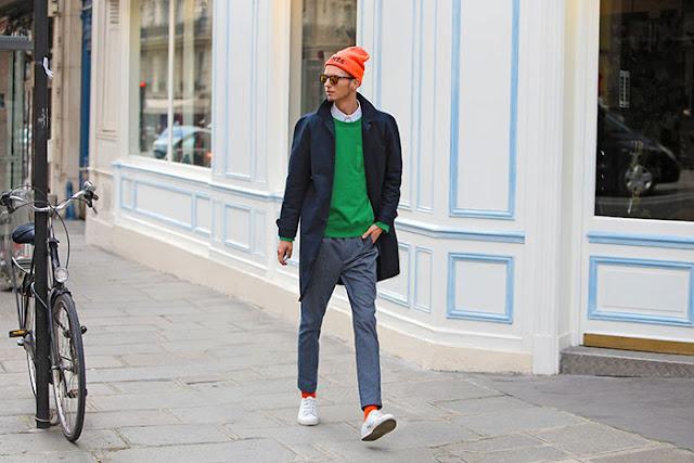 Look Masculino com Suéter Verde