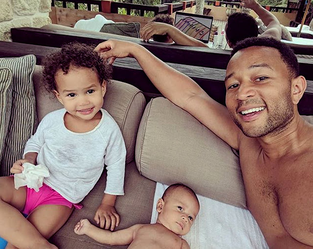 John Legend and Chrissy Teigen Shares Adorable Photos of Luna and Miles in Bali.