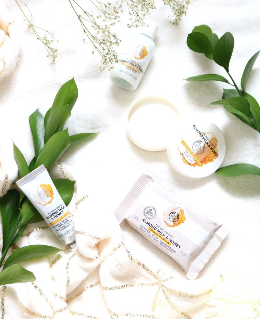 The Body Shop Almond Milk + Honey Range