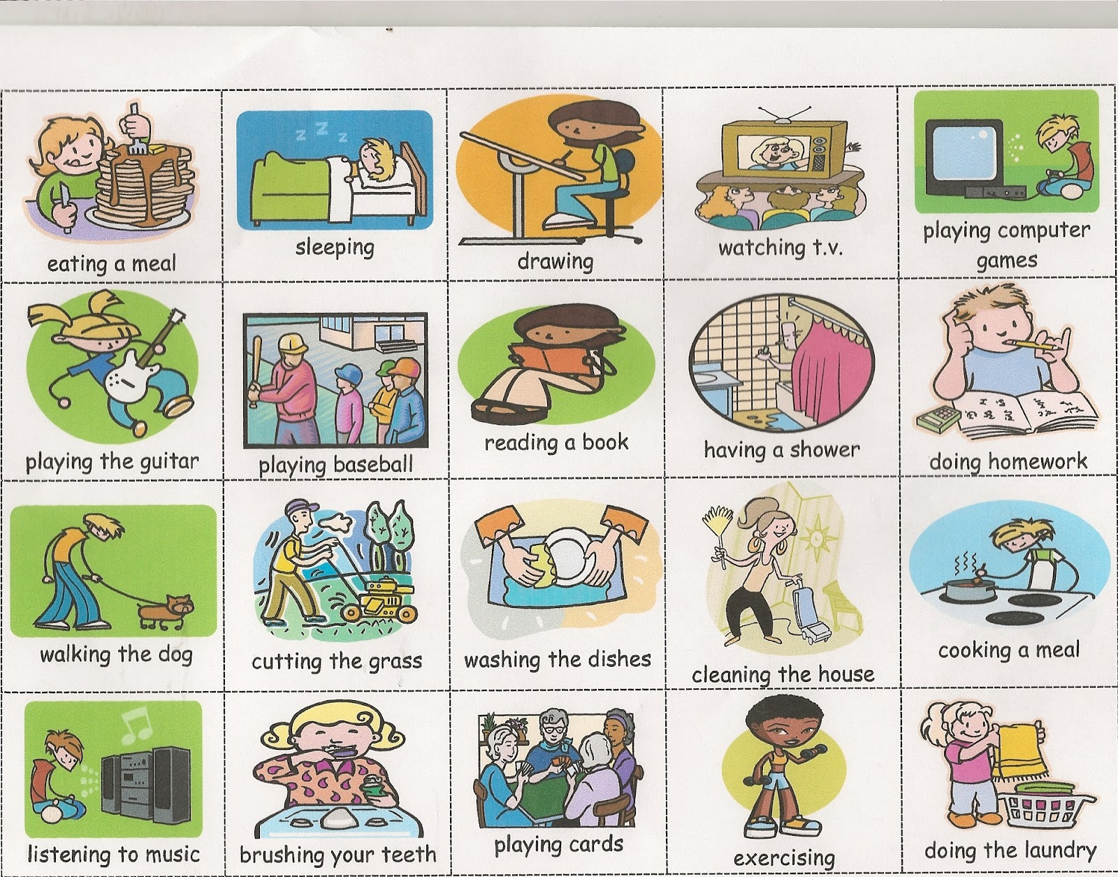 Action Verbs - Viewing Gallery