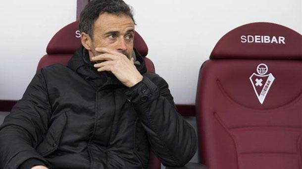 Luis Enrique, satisfecho con el triunfo del FC Barcelona en Eibar