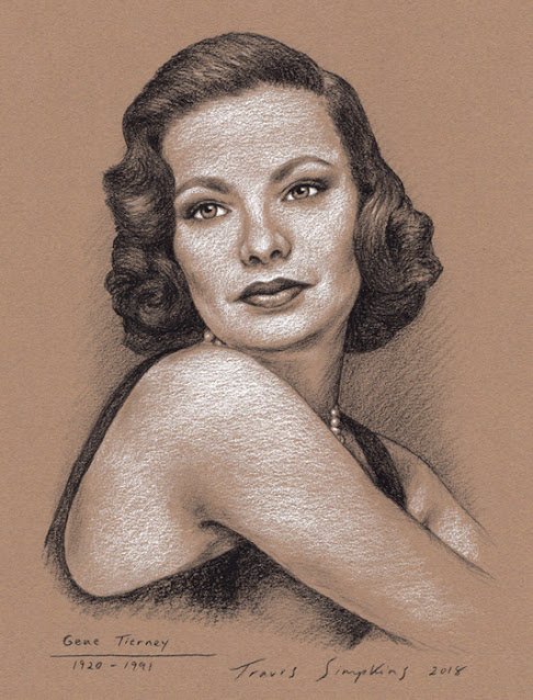 Gene Tierney. 1920-1991. Hollywood Actress. by Travis Simpkins