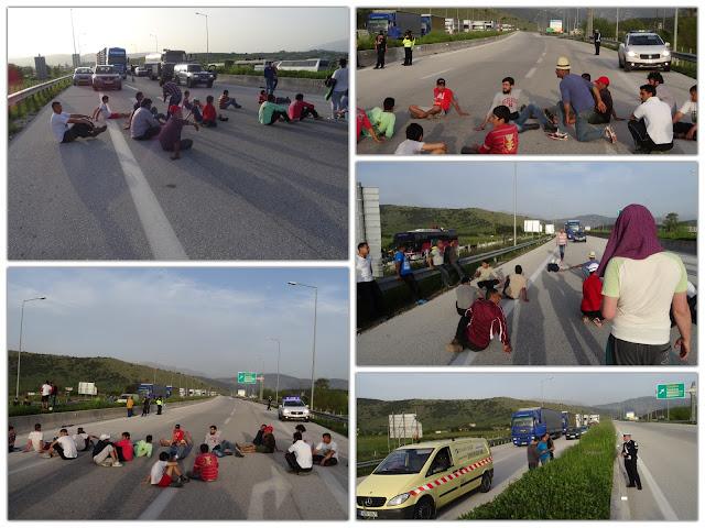 ΓΙΑΝΝΕΝΑ ΤΩΡΑ - Πρόσφυγες έκοψαν στα δύο την Εγνατία Οδό