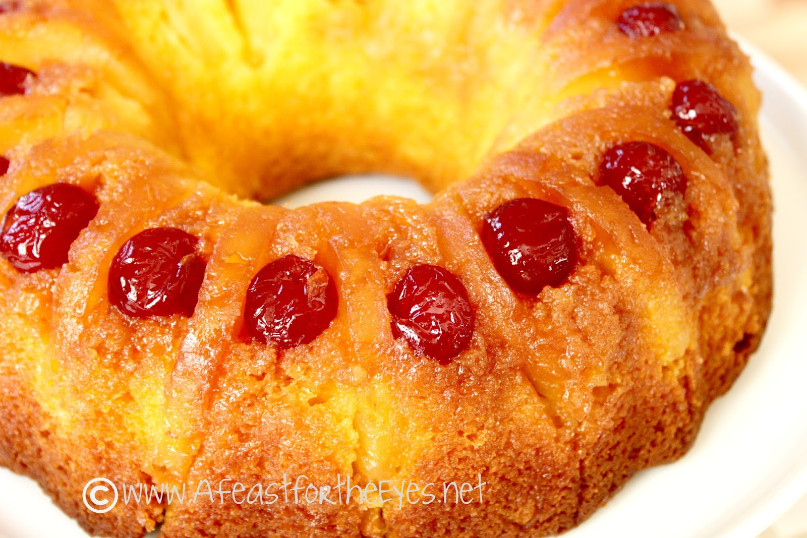 A Feast For The Eyes Pineapple Upside Down Bundt Cake