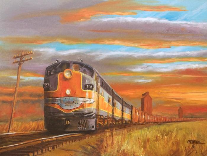 Железнодорожные картины. Christopher Jenkins 17