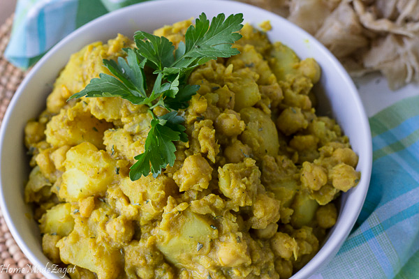 Curry Channa and Aloo Dish