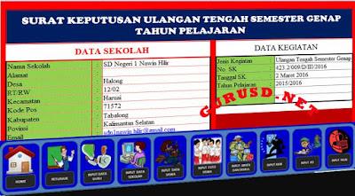 Surat Keputusan/SK Kegiatan Sekolah Dalam Satu Aplikasi Excel