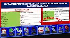 Aplikasi Cetak SK Sekolah Master Excel Surat Keputusan Untuk Semua Jenjang