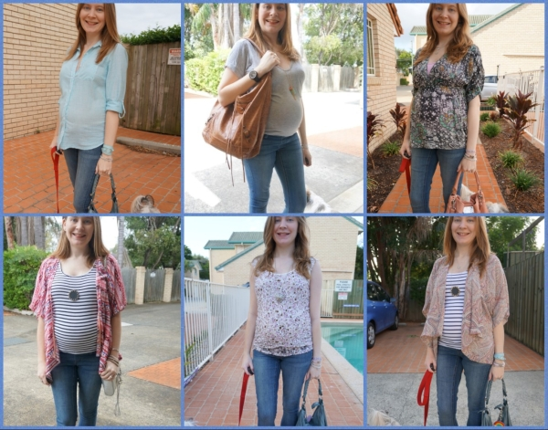 AwayFromBlue | 6 ways to wear Jeanswest maternity skinny jeans second trimester