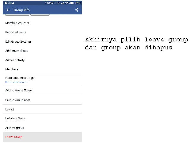 Inilah 2 Cara Menghapus Grup Facebook Dari Android & Windows / Mac 4