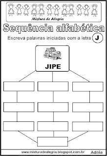 Sequência alfabética letra J