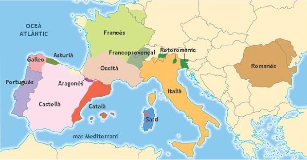 Resultat d'imatges de llengues romaniques