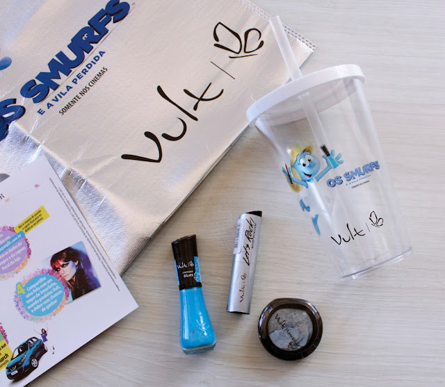 """Press Kit dos Smurfs da Promoção """"Brilhe na Pista com Vult"""""""
