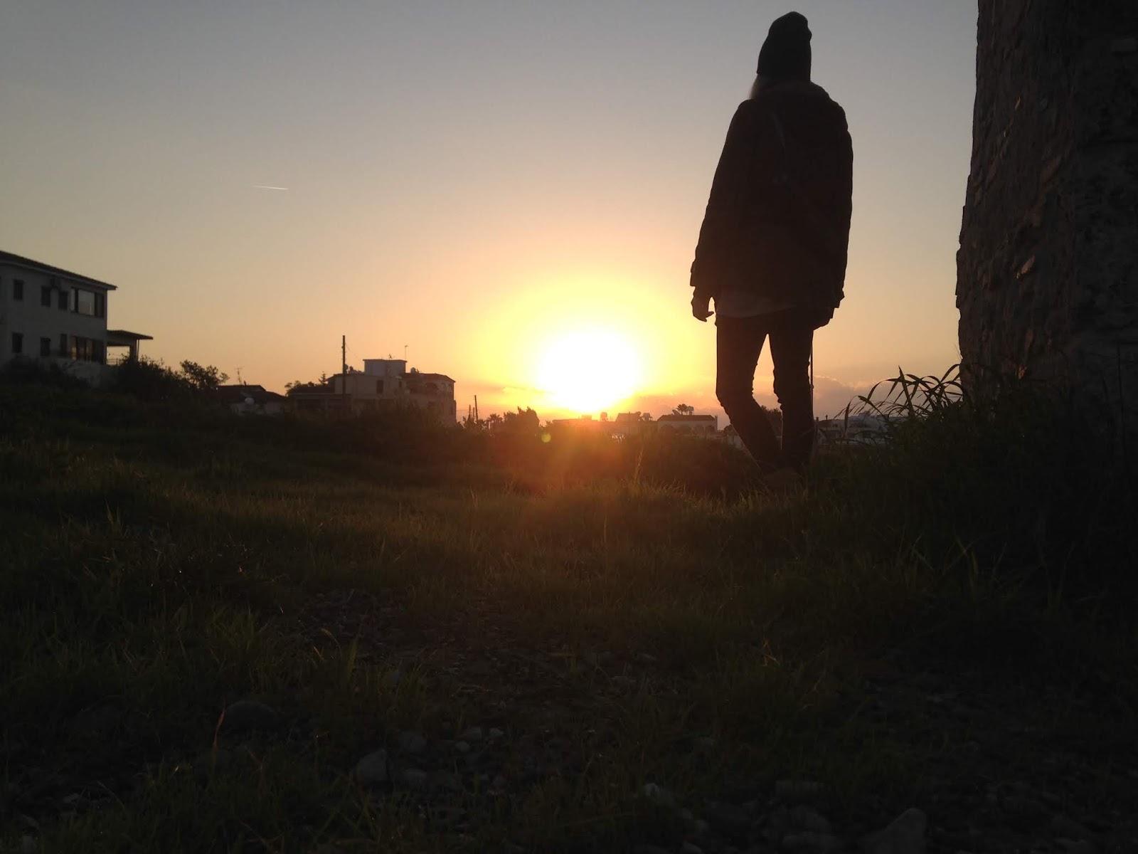 Wschód słońca akwedukt Larnaka