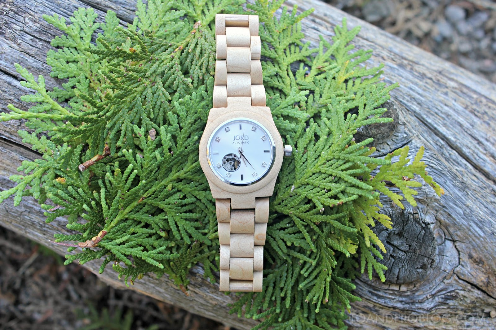 JORD Cora Maple & Silver women's wood watch
