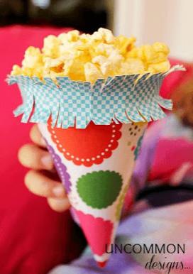 12 ideas fabulosas que te ayudaran a decorar tu fiesta con - Hacer conos papel ...