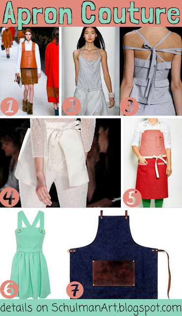 cute aprons for women http://schulmanart.blogspot.com/2015/07/apron-avant-garde.html