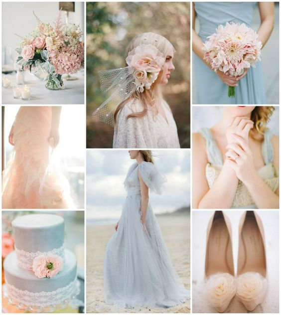 Top Wedding Color Combinations Blush and powder Blue | Knotsvilla