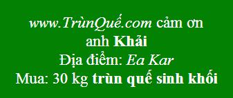 Trùn quế về huyện Ea Kar