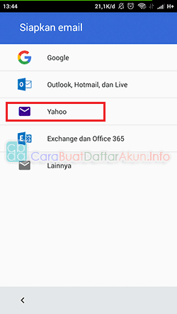 cara setting email yahoo di android pop3