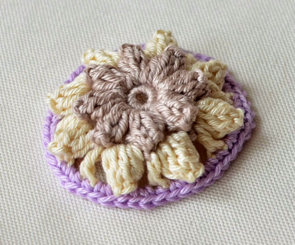 crocheted flower mandala - tutorial
