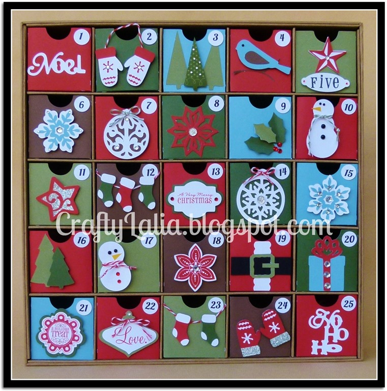 Advent Calendar designed by Lalia Harris www.CraftyLalia.com