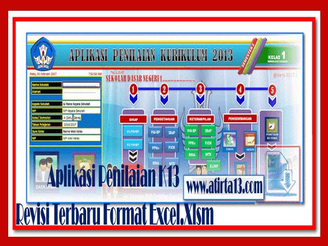 Download Aplikasi Penilaian K13 Revisi Terbaru Format Excel.Xlsm