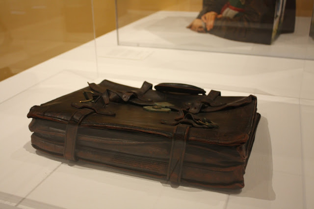Incredibly real looking briefcase made of porcelain at the Racine Art Museum