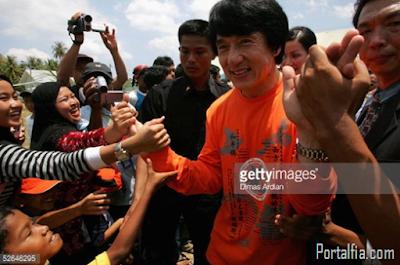 Jackie Chan datang  ke Aceh