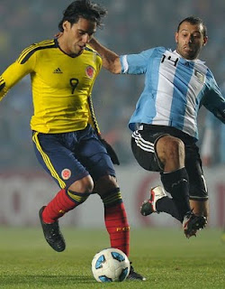 Argentina v Colombia.