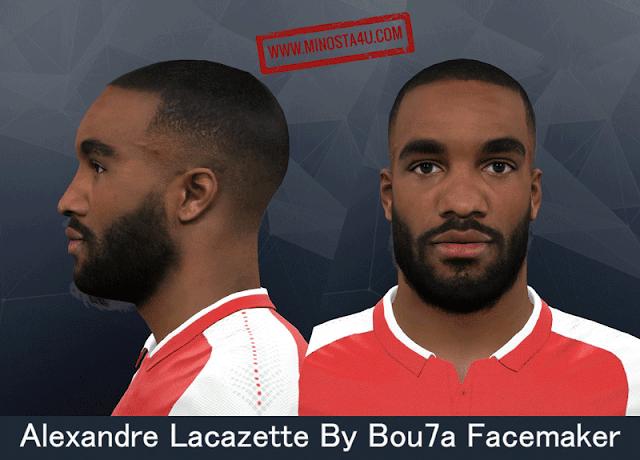 PES 2017 - Alexandre Lacazette Face - Arsenal FC