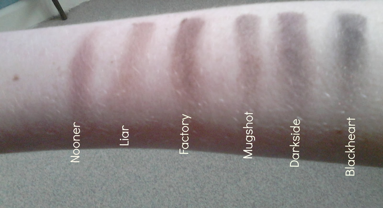 Urban Decay Naked 3 Palette Swatches