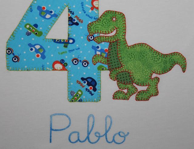 camiseta-cumpleaños-4años-tiranosaurio