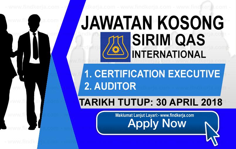Jawatan Kerja Kosong SIRIM QAS International logo www.findkerja.com april 2018