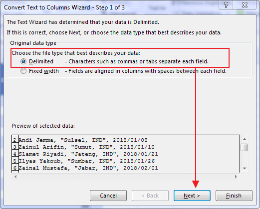 Cara Menggunakan Text to Columns Excel