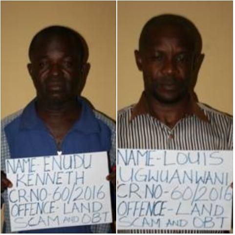 In Enugu: EFCC Arraigns Two Over N1.5 Million Land Scam (PHOTOS)