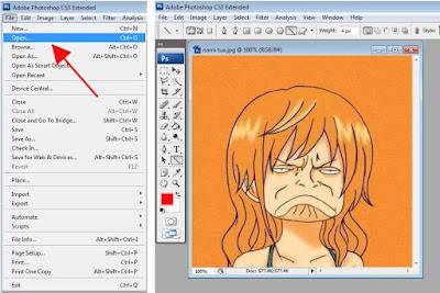 cara menggabungkan gambar/foto menjadi satu di photoshop cs 3