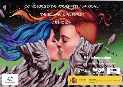 """V Concurso de graffiti / mural """"De Igual Calibre"""", Valle del Jerte"""