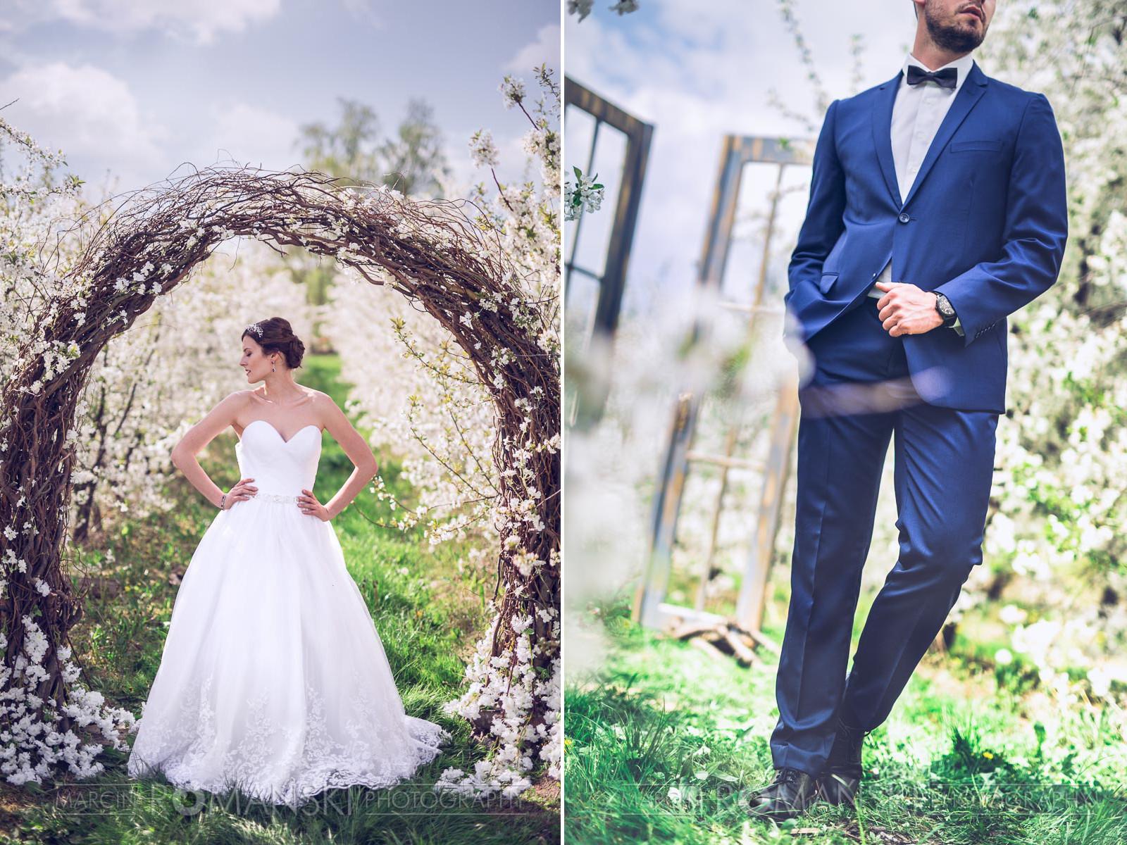 Klasyczna stylizacja ślubna Pary Młodej.