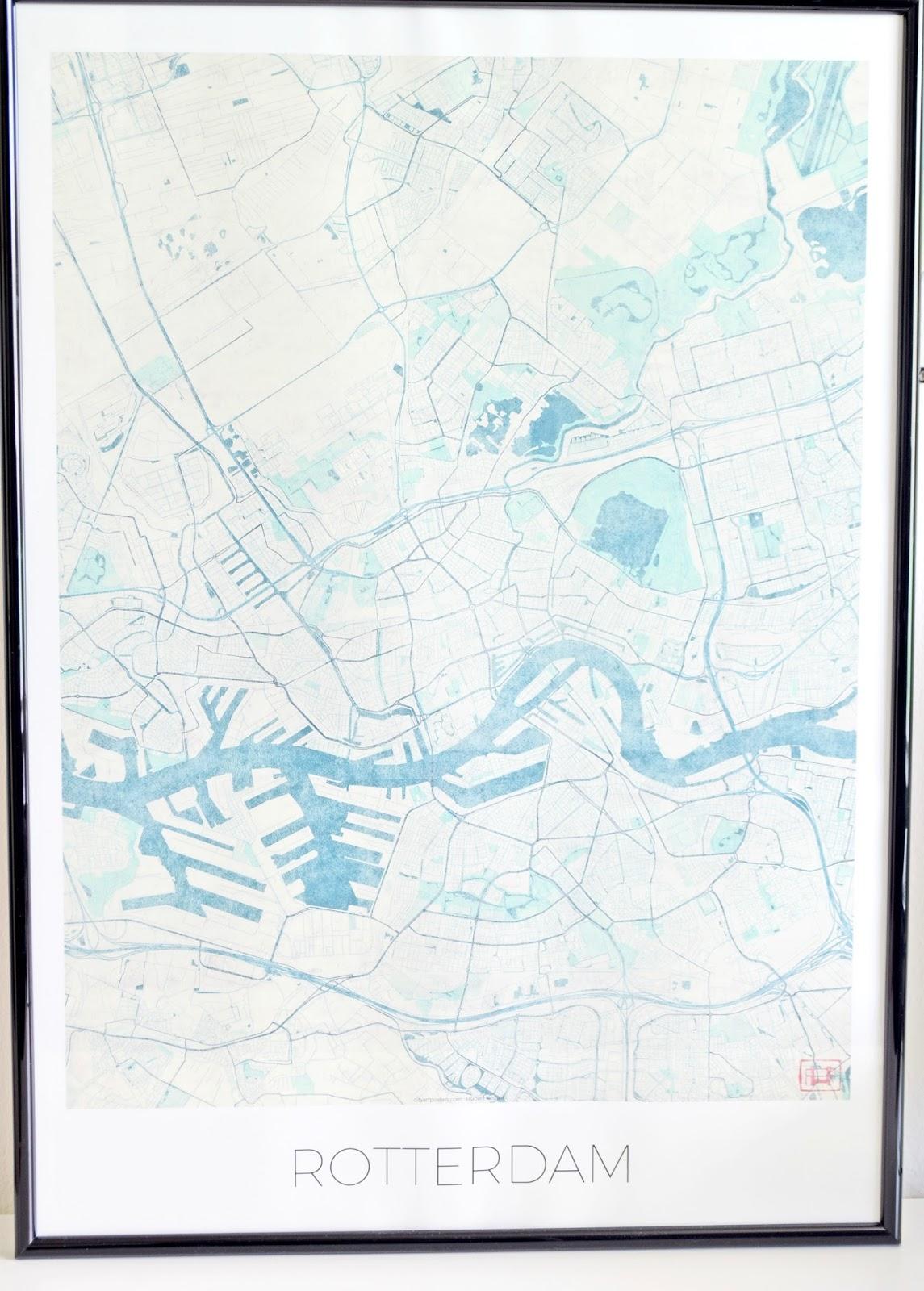 mapa Rotterdamu