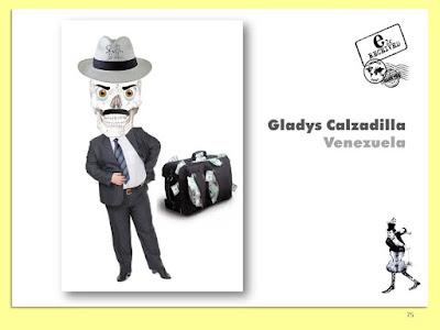 Gladys Calzadilla, La Muerte en el Maletín, Collage Digital, Arte Postal, Espacio 2C, Exposición Colectiva #CadaverExquisito #MailArt en #sanmigueldearbona #BacosSanMiguel Tenerife